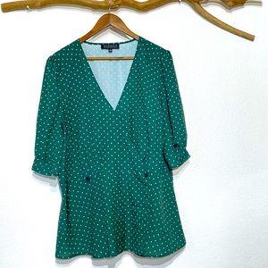 Eloquii Women's Size 20 Short Sleeve Polka Dot top